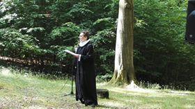 Frilufts-gudstjeneste ved Fruebjergmødet