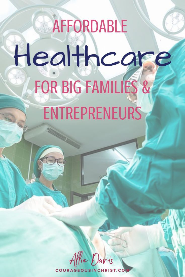 Affordable healthcare for entrepreneurs and large families