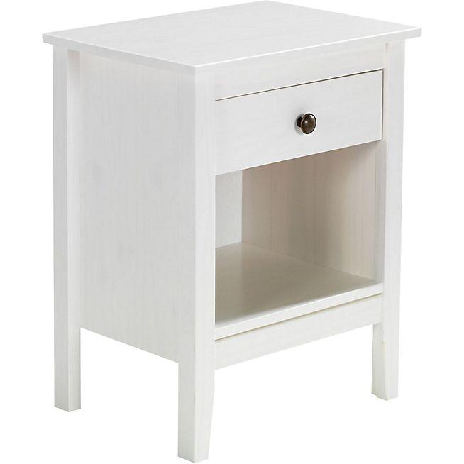 Lison Table De Chevet Blanche 1 Tiroir Et 1 Niche Table De Chevet Table De Chevet Blanche Table De Nuit