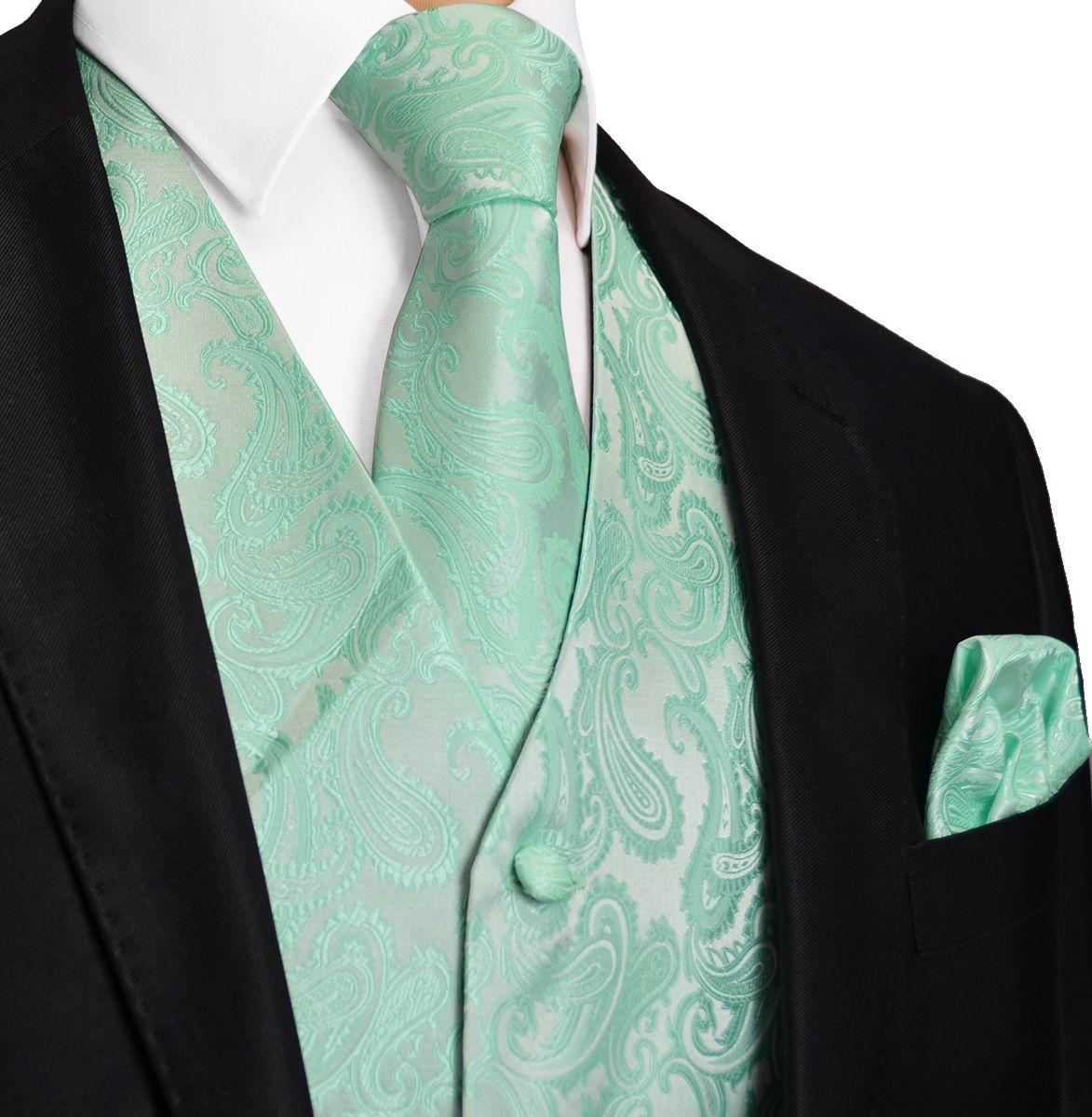 Blue Turquoise Paisley Tuxedo Vest Set | Alaina Wedding | Pinterest ...