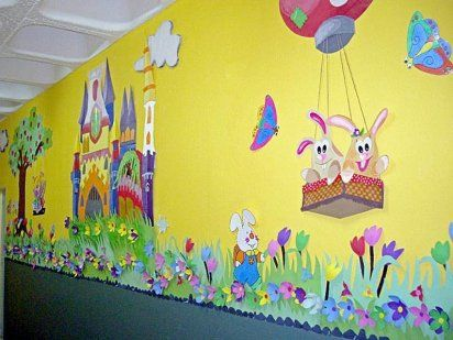 Como Decorar Una Guarderia Kids Cafe Baby Mobile Mural
