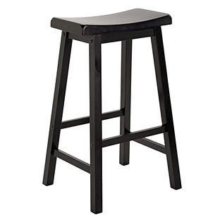 Peachy Buy Wooden Saddle Bar Stool Black At Argos Co Uk Visit Ocoug Best Dining Table And Chair Ideas Images Ocougorg