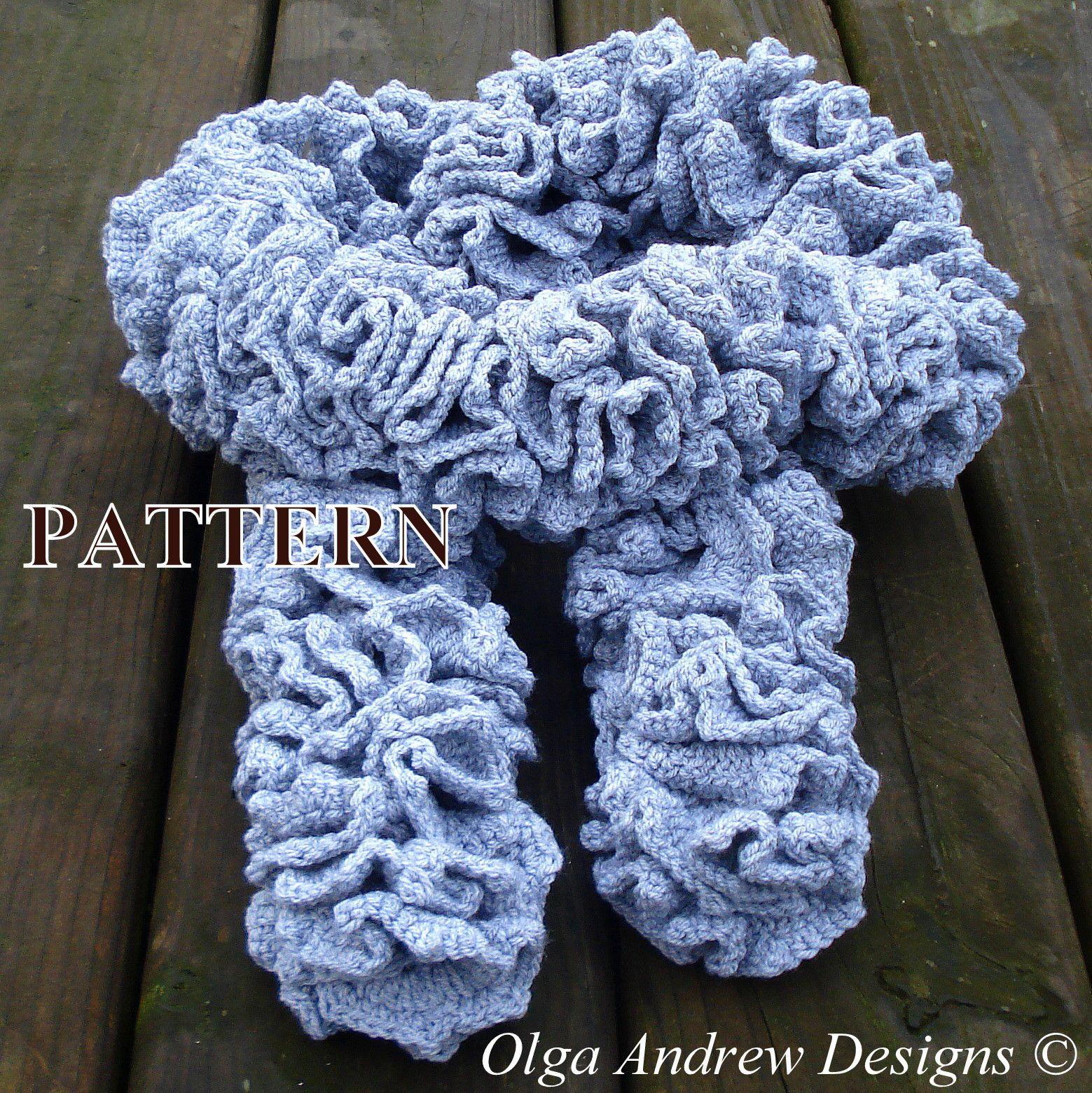 Crochet scarf pattern ruffle scarf crochet pattern crochet scarf crochet scarf pattern ruffle scarf crochet pattern crochet scarf patterns easy tutorial instant download pdf pattern 080byolgaandrewdesigns dt1010fo