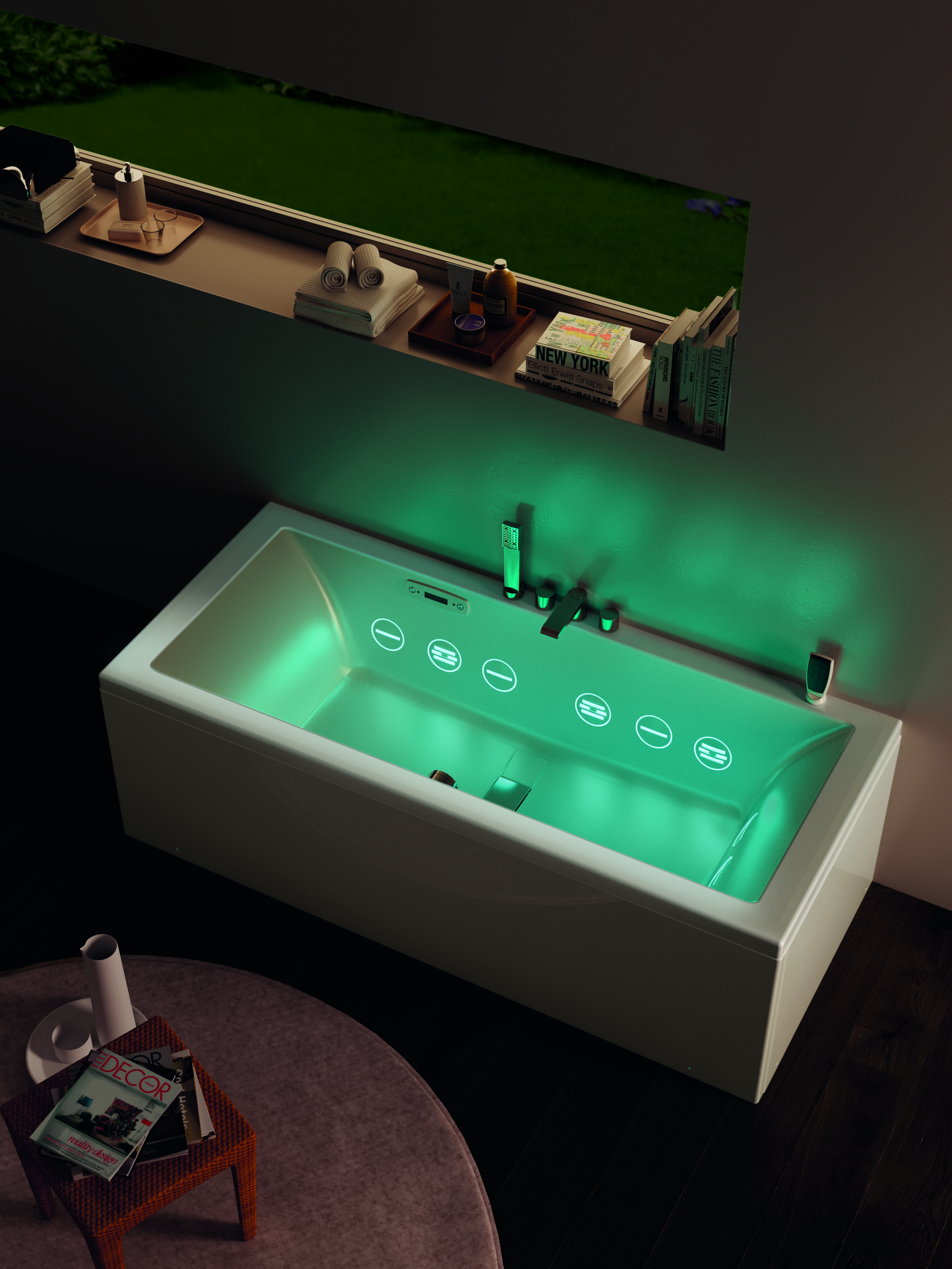 this #jeanmichelwilmotte bath features a #hydrosonic #whirlpool ... - Whirlpool Badewanne Sorgente Teuco