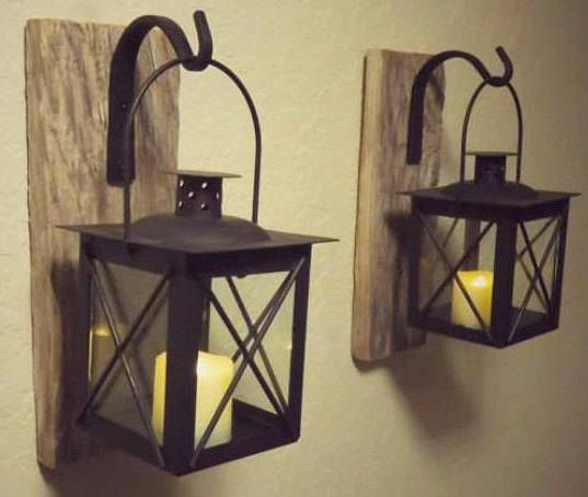 Lantern 2 Lanterns Home Decor Candle Holder Rustic Home