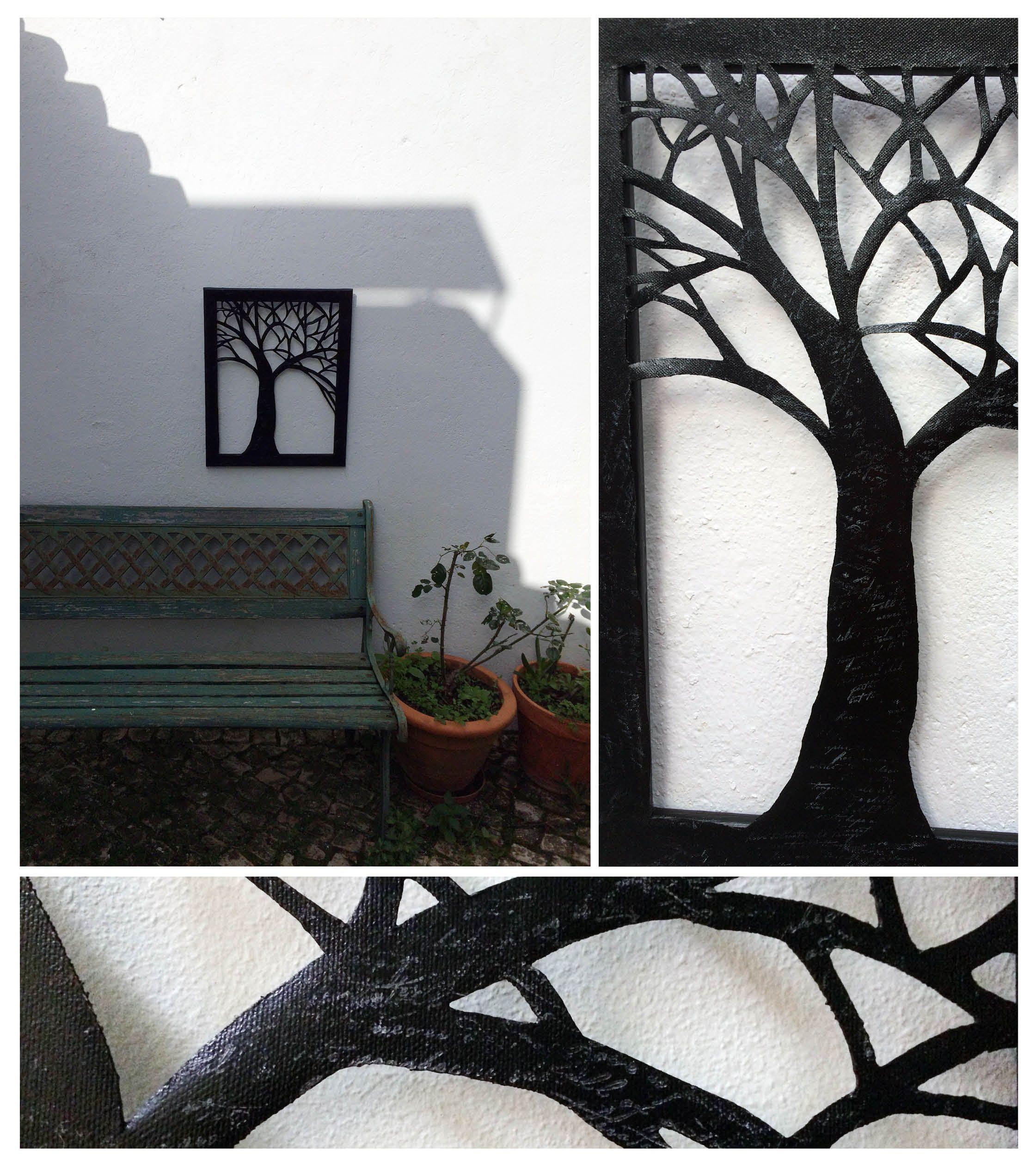 Tela recordada e pintada. A árvore da vida...