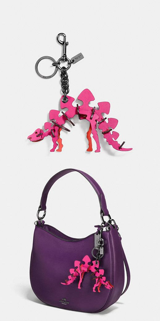 Key Chains Rings and Finders 45237: New Coach 56156 Pink Cerise Leather Steggy Dinosaur Bag Charm Key Chain Sold Out -> BUY IT NOW ONLY: $119.99 on eBay!