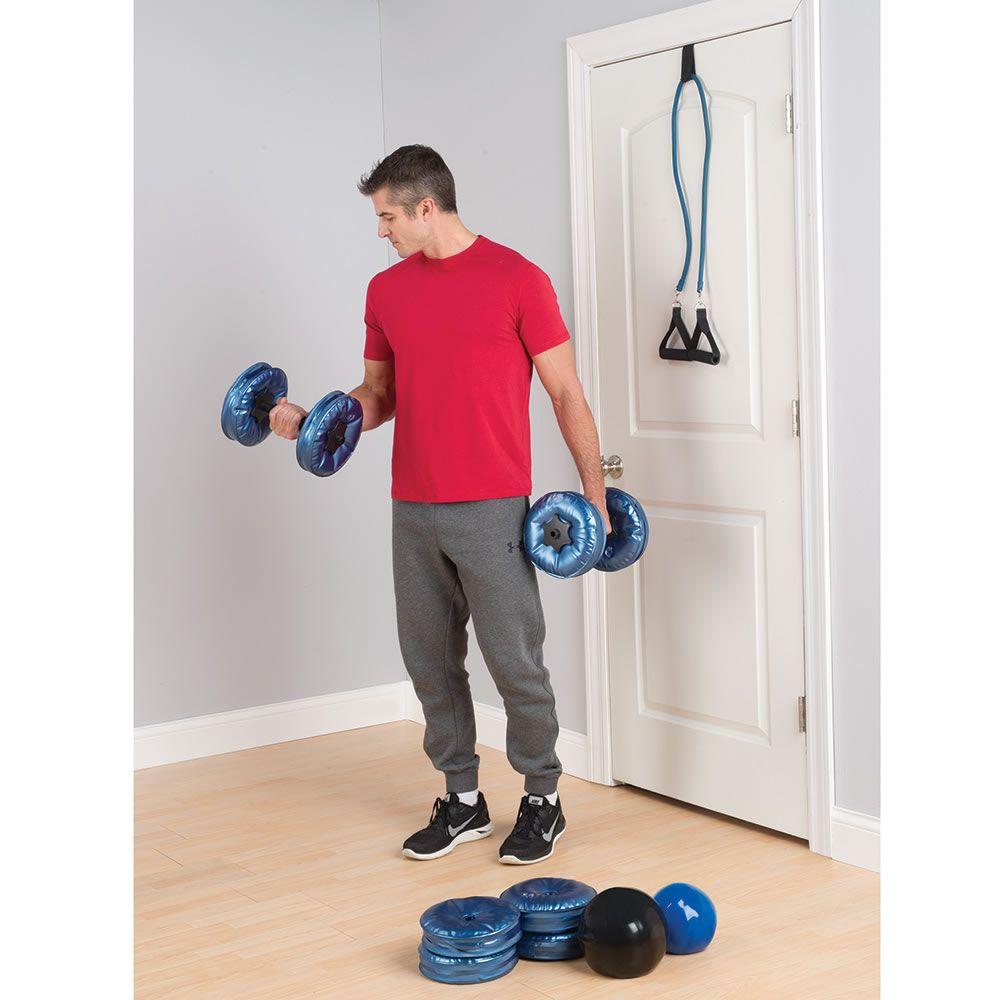 The Traveler S Water Weights Hammacher Schlemmer Water Weight Weights Workout Medicine Balls