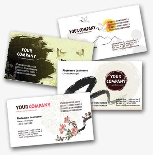 4 asian inspired personal business cards templates tarjetas de 4 asian inspired personal business cards templates colourmoves