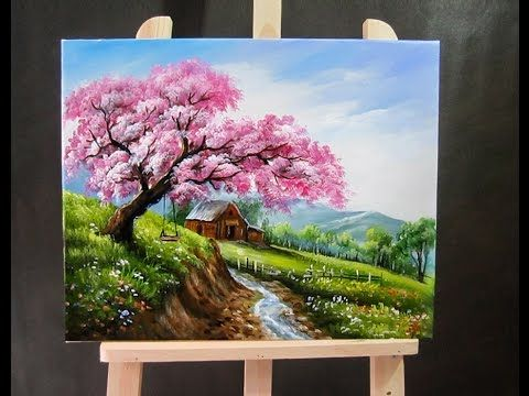 How to paint landscapes with acrylics for beginners for Landscape paintings for beginners