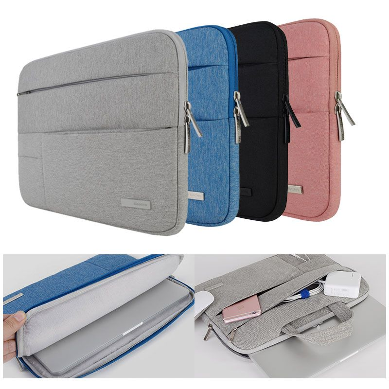 ef3b4f594d5 Laptop Bags Sleeve Notebook Case for Dell HP Asus Acer Lenovo Macbook 11 12  13 14 15 15.6 inch Soft Cover for Retina Pro 13.3
