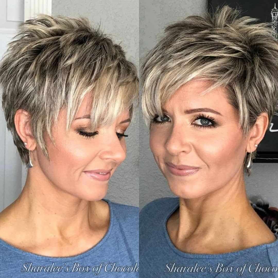 Short Hairstyles For Fine Hair Short Pixie Haircuts For Curly Hair New Short Hair Styles For Women 20190814 Spiked Hair Short Hair Styles Hair Styles