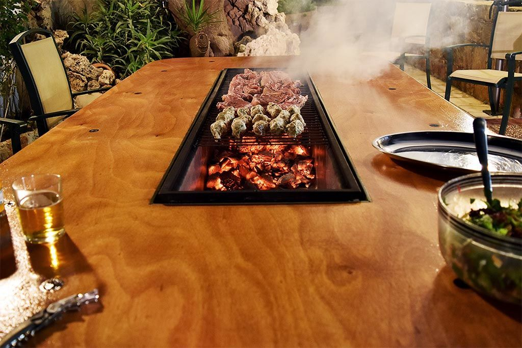 Diy Barbecue Table Diy Barbecue Diy Grill Bbq Table