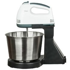 GTE Portable Baking Hand Mixer With Detachable Stainless Steel Bowl
