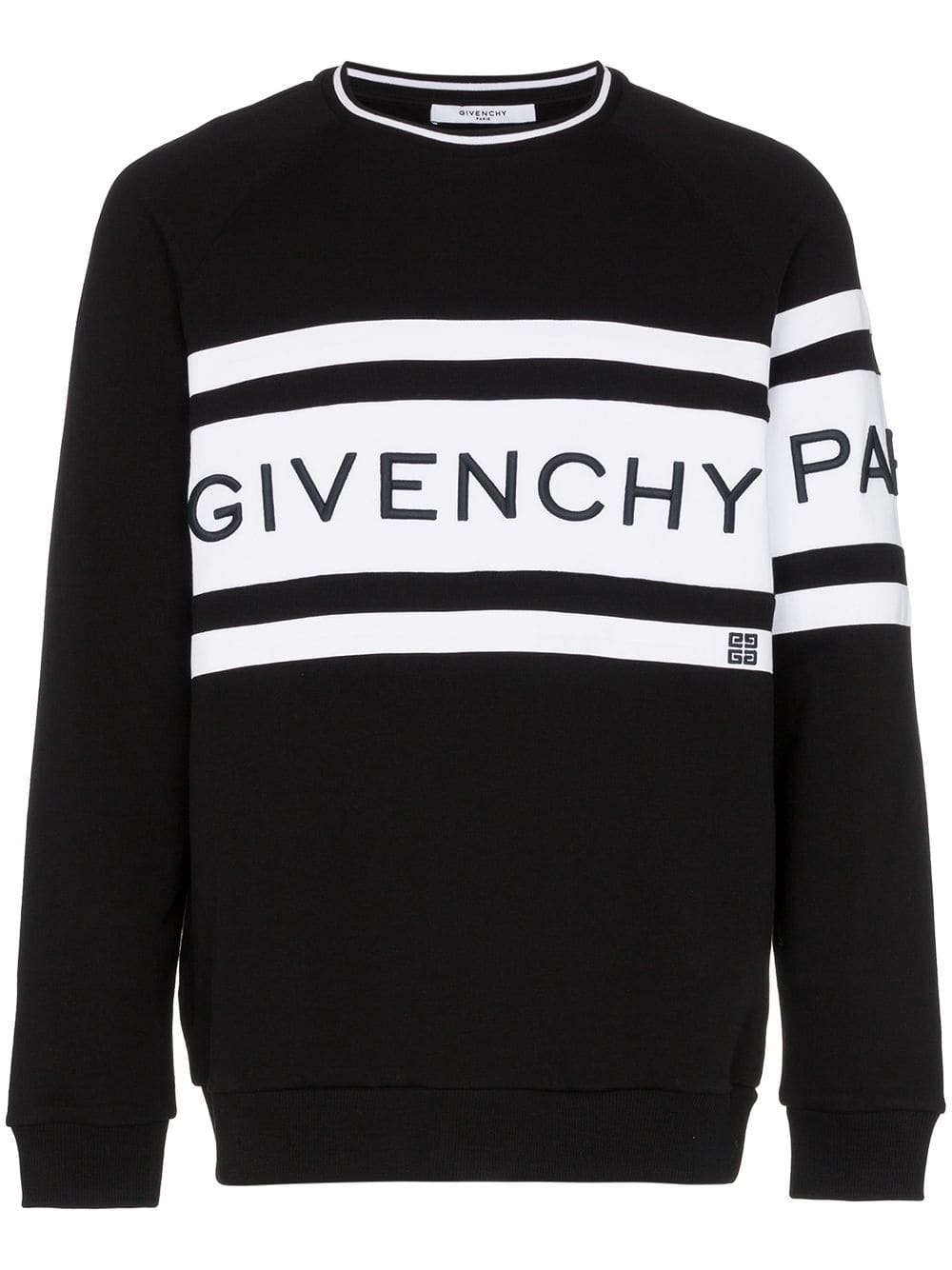 8ddeaa28 Givenchy cotton large logo crew neck sweater - Black in 2019 ...