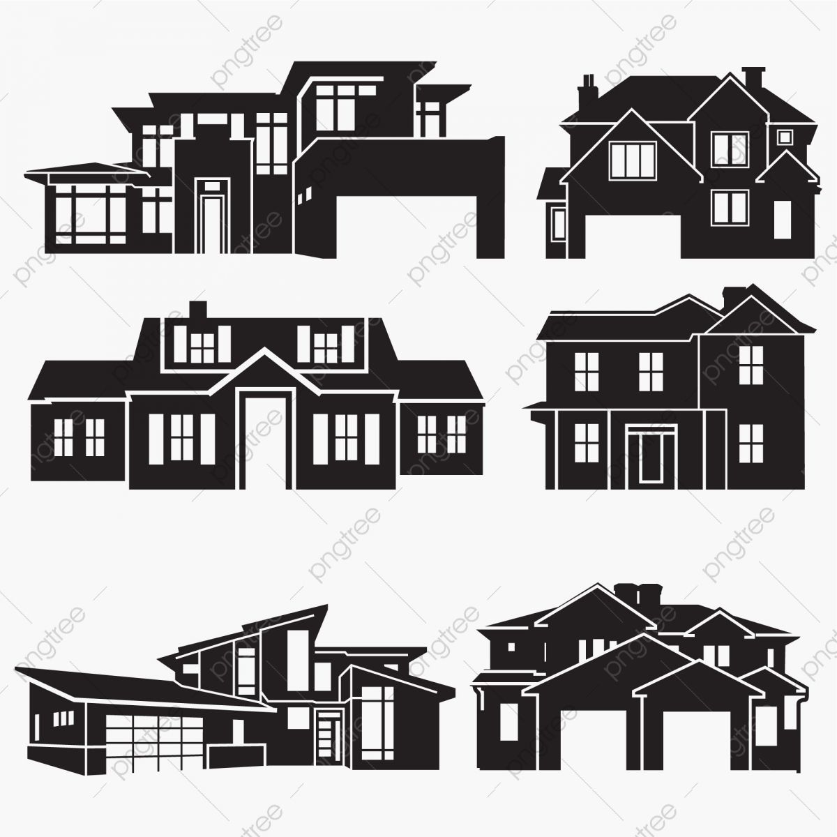 House Silhouettes House Apartment Architecture Png And Vector With Transparent Background For Free Download In 2021 House Silhouette Building Silhouette Silhouette Architecture