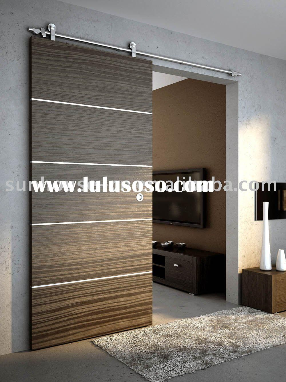 Wood sliding door sliding door fitting home decor for Sliding panel doors interior