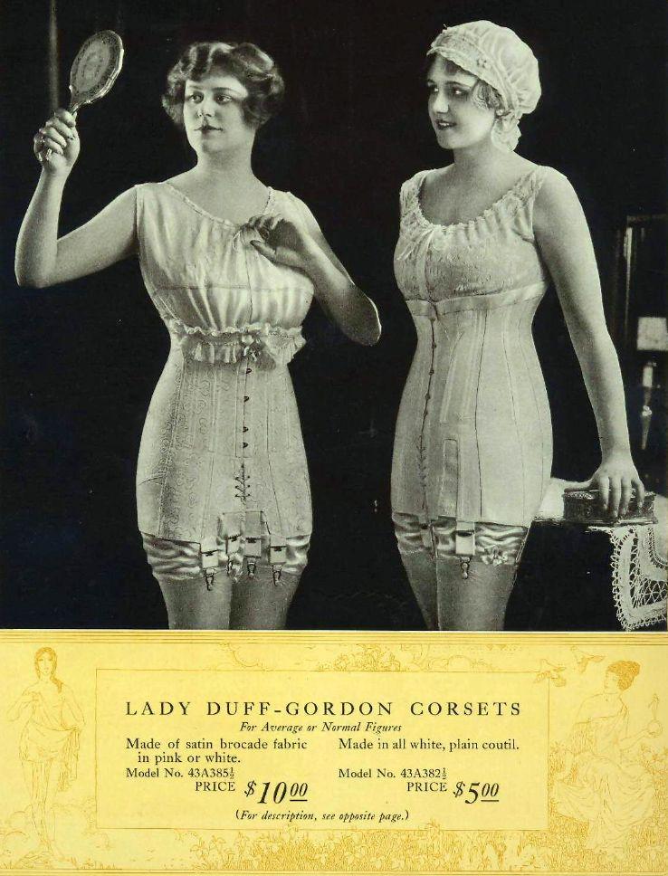 23e3512a3e Publicité Vintage - Corsets - Lady Duff Gordon - 1918