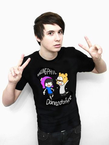 f3e807a8dc446 Dan Howell is perfection. Dan and Phil Classic Design T-shirt (Black) – Dan    Phil Shop