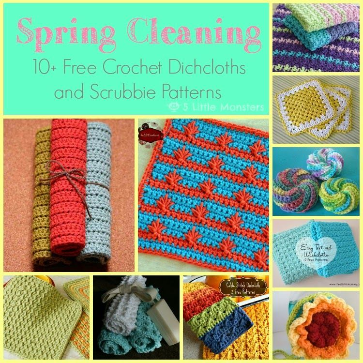 Friday Freebies Roundup Spring Cleaning Edition: 10 Free Crocheted ...