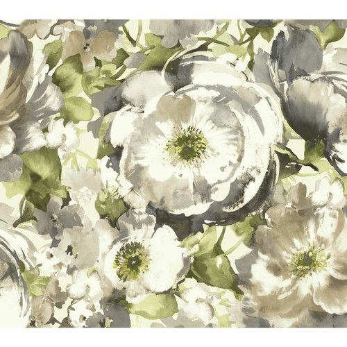 "Found it at Wayfair - Watercolors Poppy 27' x 27"" Floral and Botanical Wallpaper"