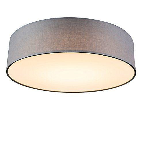 LICHT-TREND LED-Deckenlampe PALO / 13,3W Ø32cm / Textilschirm Taupe