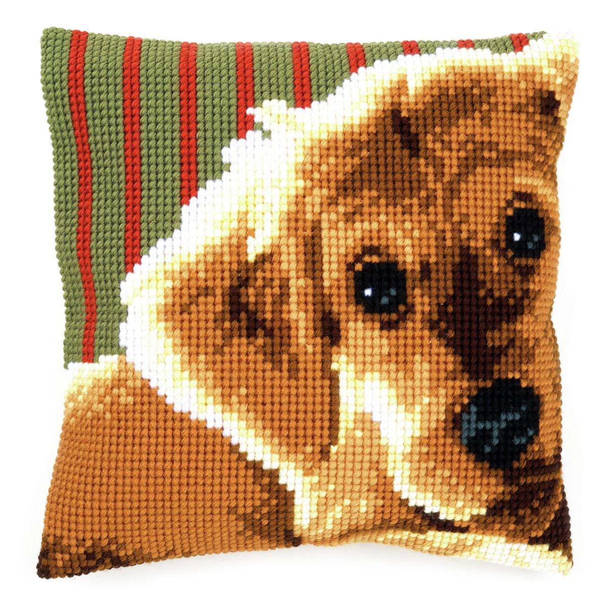 Cross Stitch Cushion Front Kit Dog Collection D/'Art Brady CD5160