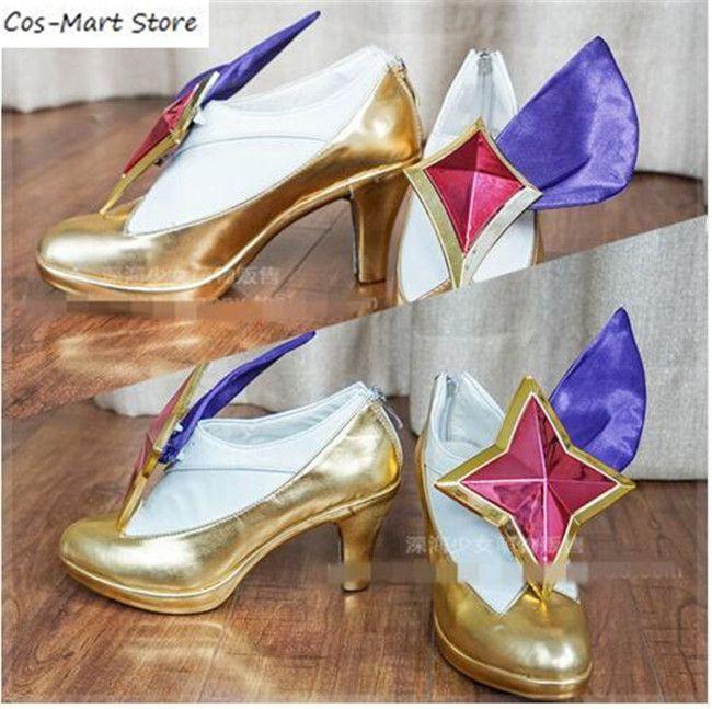 NEW LOL League of Legends KDA Ahri Cosplay Shoes Pumps