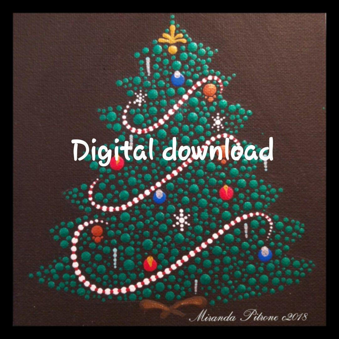 Dot Art Christmas Tree Design Christmas Tree Dot Art Pattern By Miranda Pitrone Digital Downloand Pattern Dots Art Pattern Art Christmas Tree Design