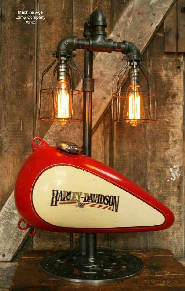 Harley Davidson Lamp Harley Davidson Decor Lamp Industrial Lamp