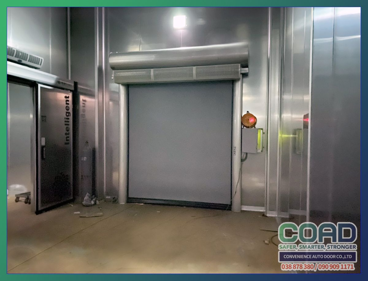 High Speed Automatic Doors For Heating Cooling Systems And Food Companies To Block Internal Inflow In 2020 Automatic Door Company Meals Heating And Cooling