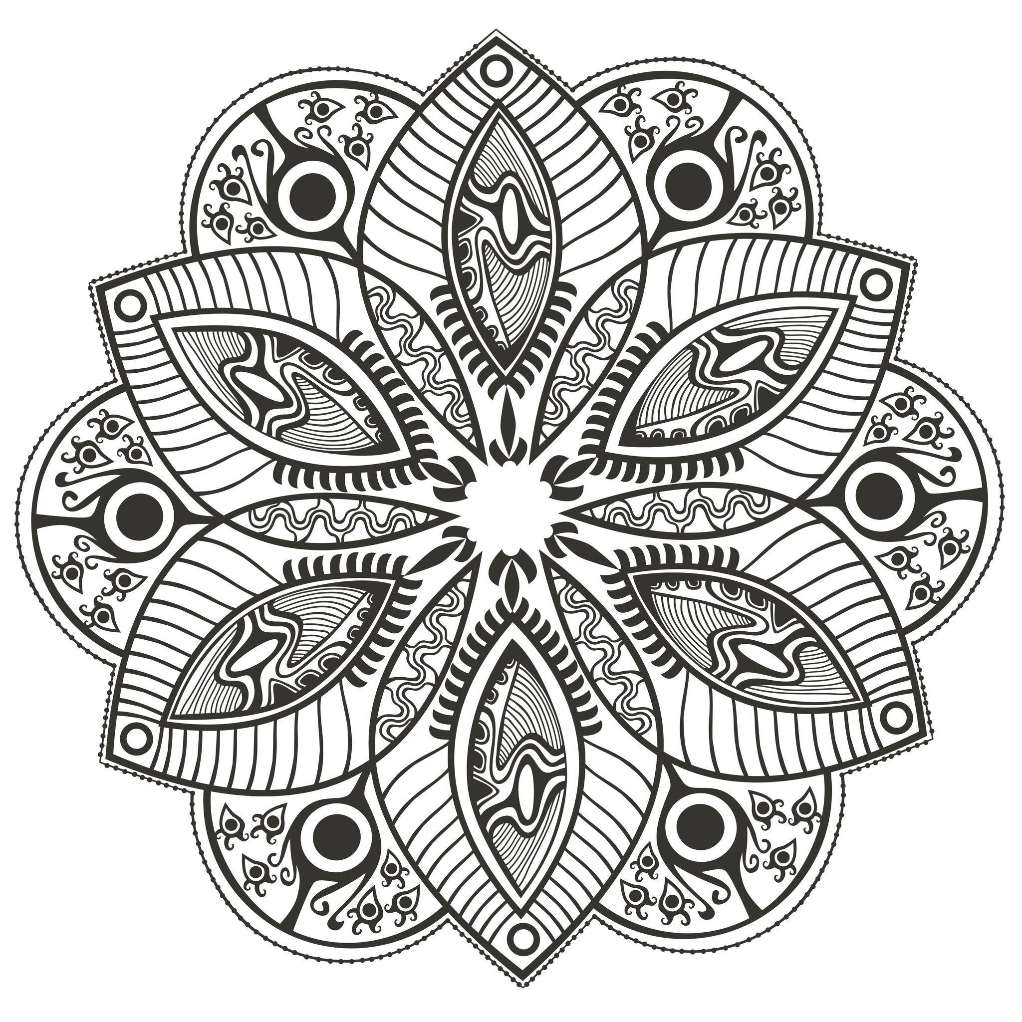 Voici des Mandalas difficiles pour adultes  imprimer Mandala est un mot sanskrit qui désigne