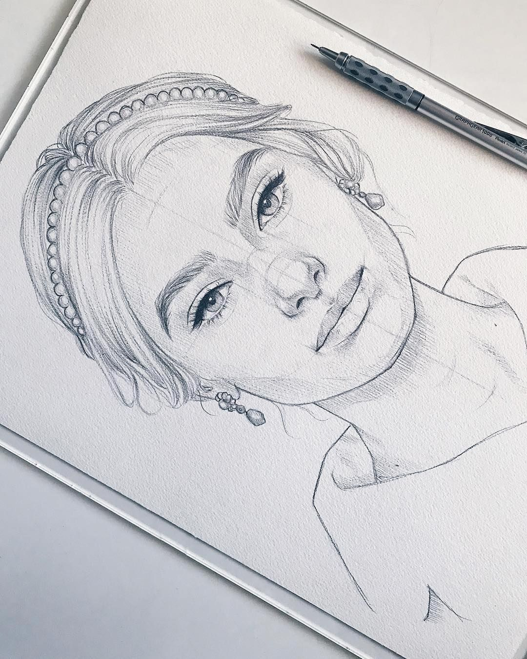 great art by @amykour . Wonderful portrait drawing of a ...