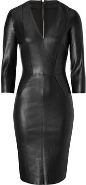 Jitrois Leather Dress in Black on shopstyle.com