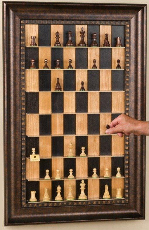 How To Make A Vertical Wall Mounted Chessboard Cool