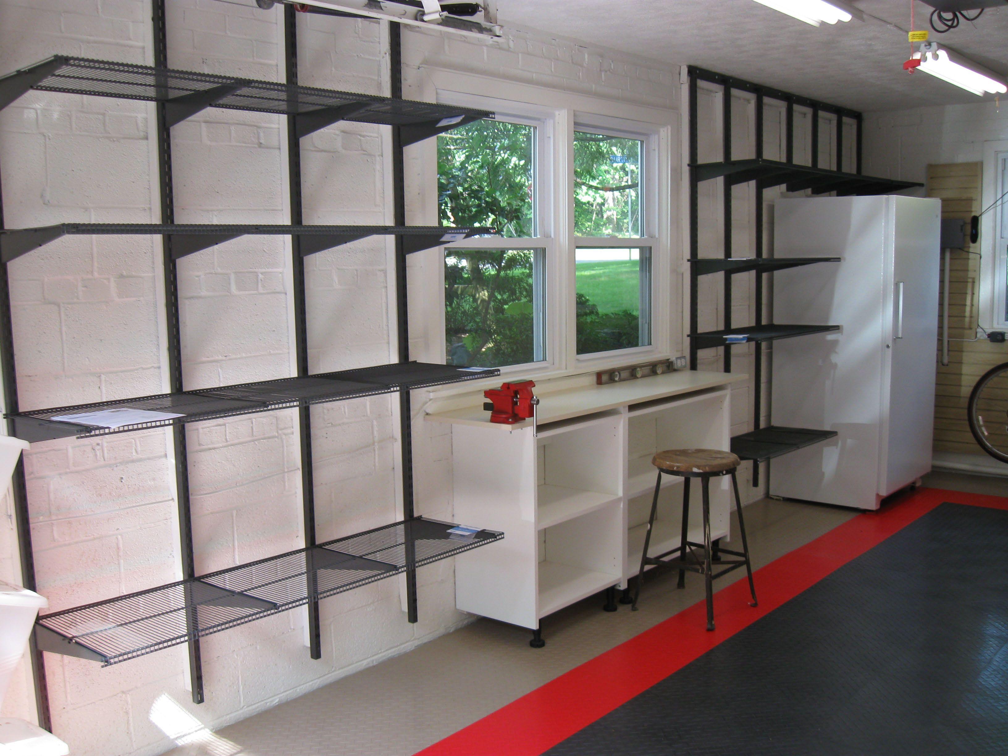 Portfolio Hanging garage shelves, Home depot garage