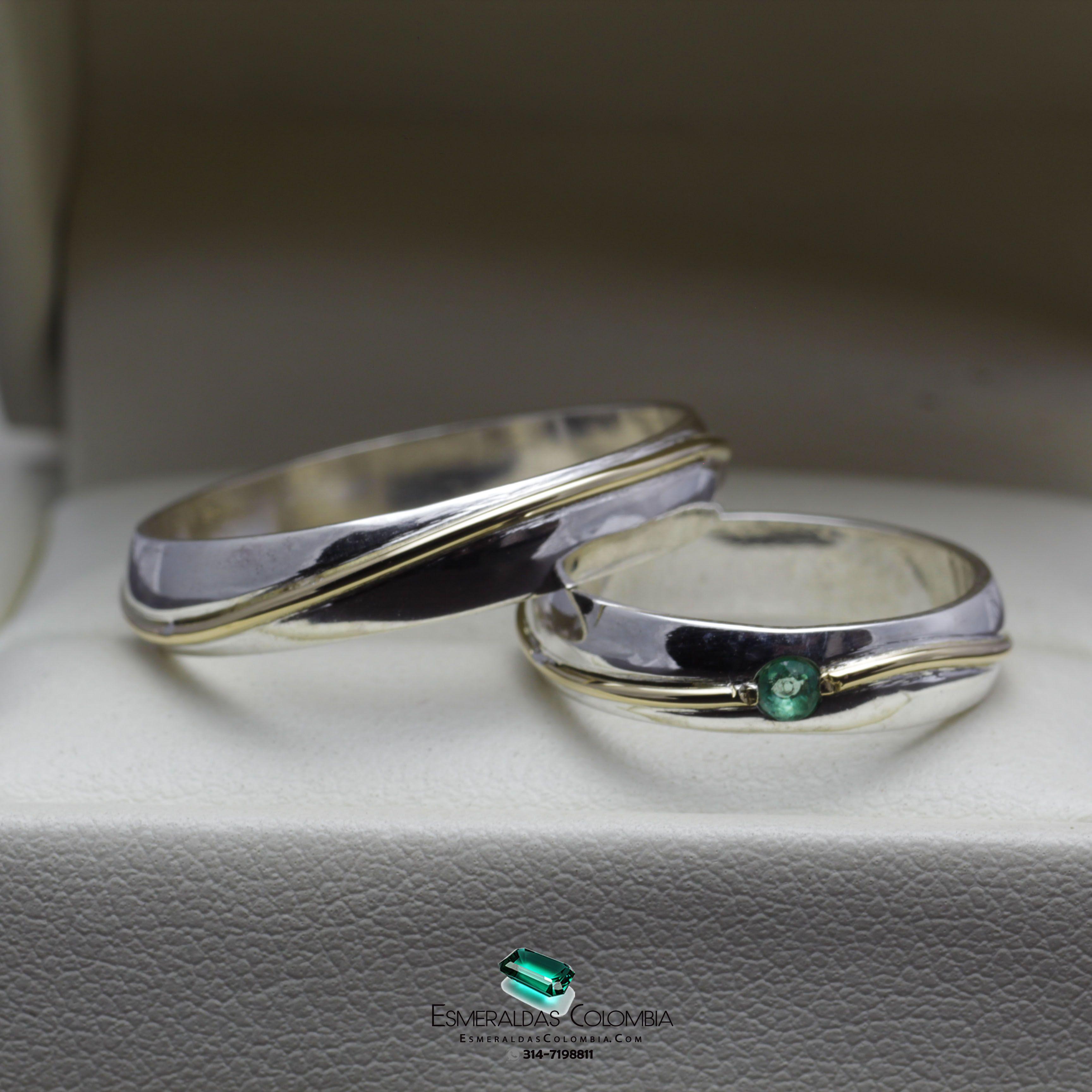 57f15a74945f Argollas de Matrimonio Plata 950