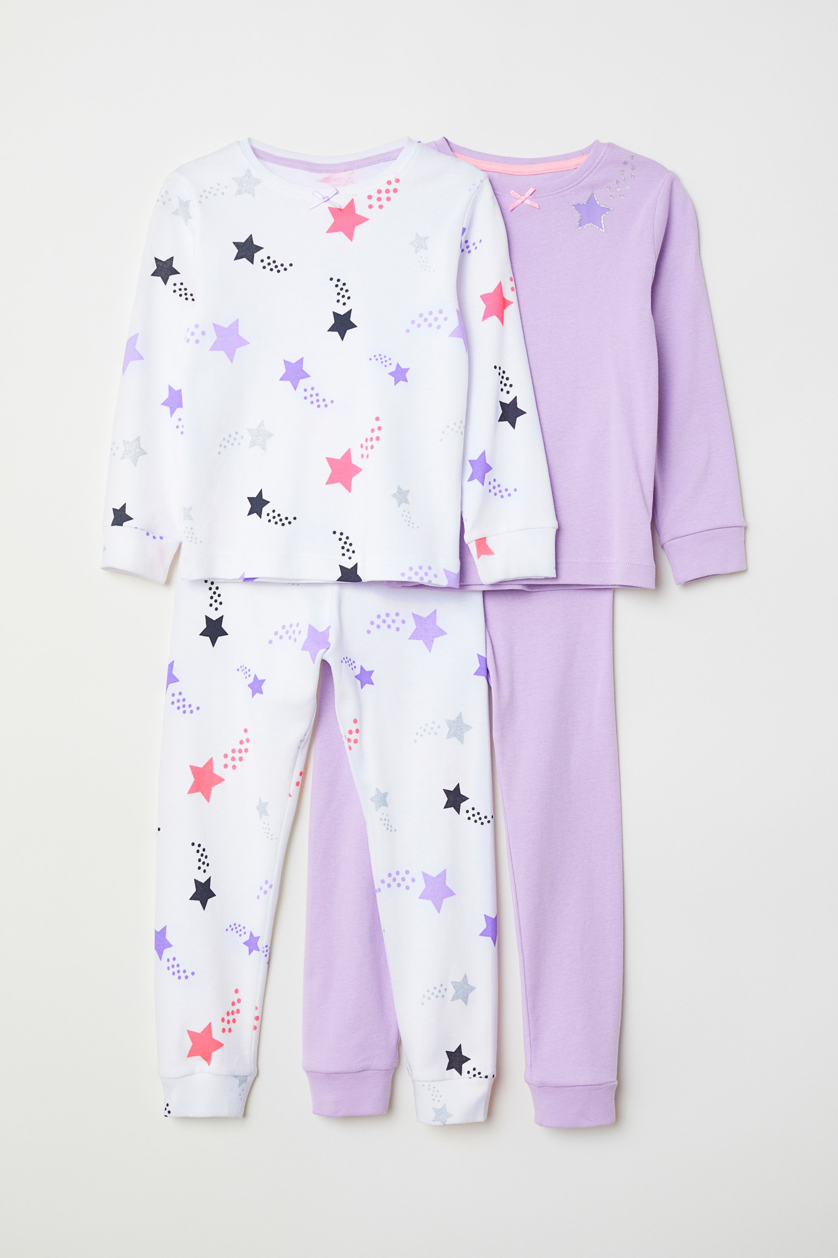 52e883064 H M 2-pack Jersey Pajamas - Purple in 2019