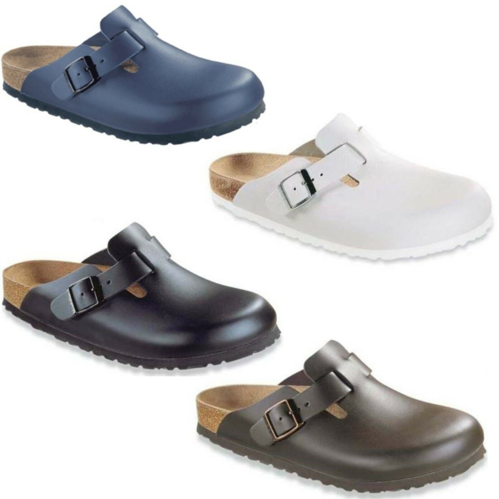 Birkenstock BOSTON Leder Schuhe Damen Herren Clogs
