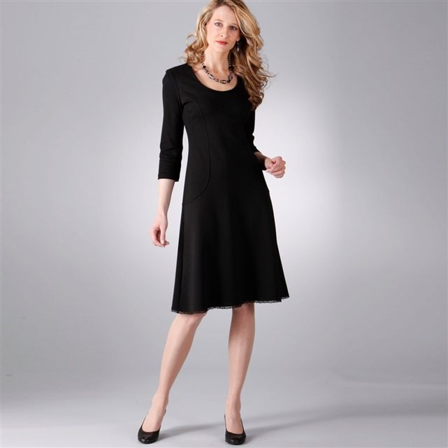 Stretch Milano Knit Dress Anne Weyburn La Redoute Idees De Mode Mode Francaise Idees Vestimentaires
