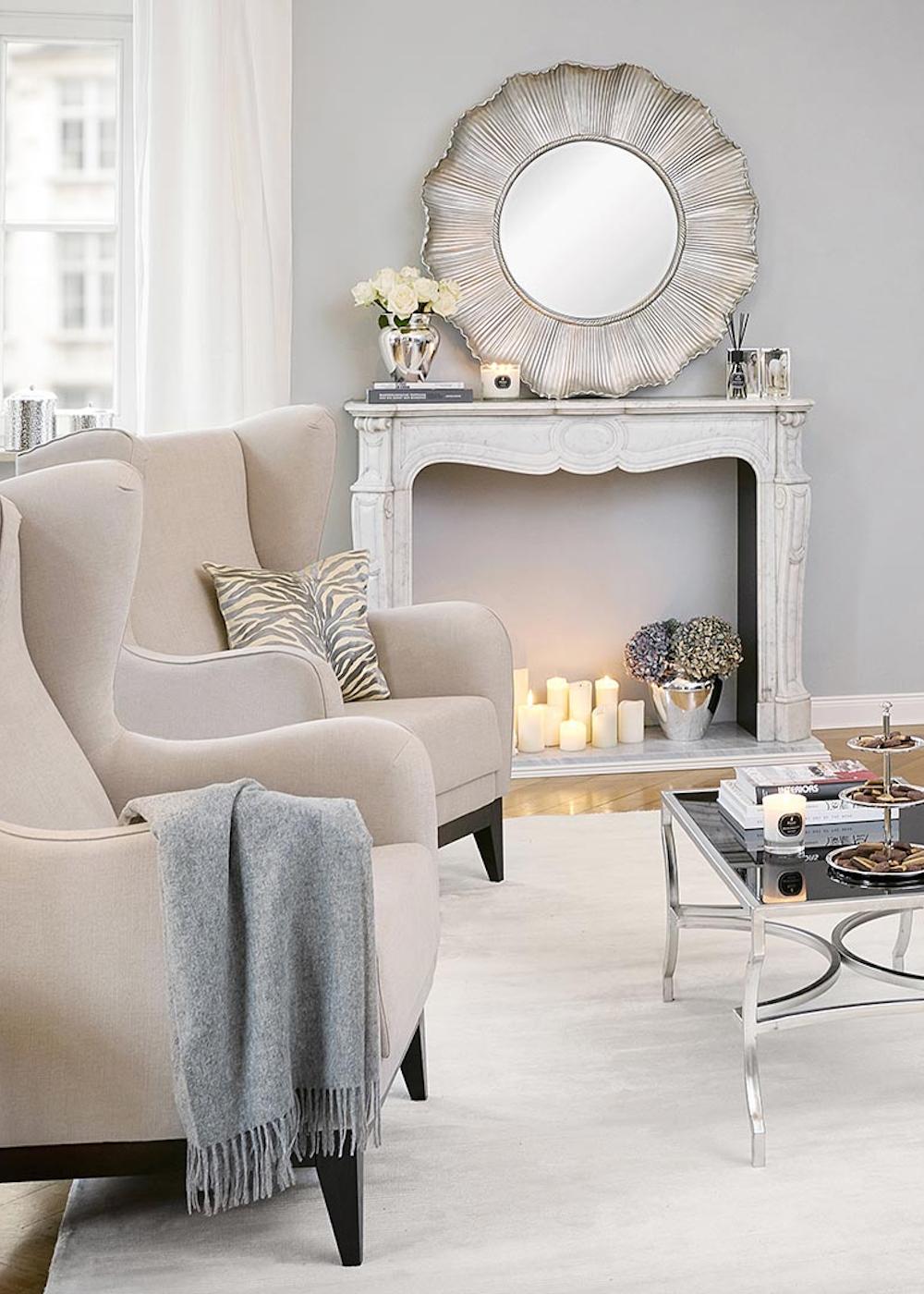 townhouse chic« wichtig sind ausladende möbel, dezente farben und, Wohnzimmer dekoo