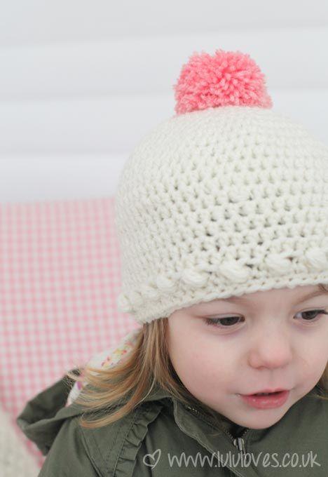 Crochet Bobble Hat :) | Crochet | Pinterest | Gorros, Mi pasión y Locos