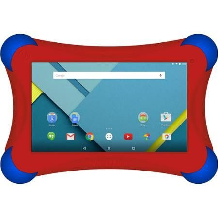 """Elite FamTab with WiFi 7"""" Touchscreen Tablet PC Featuring Android Kit Kat 4.4 Prestige Elite Red"""