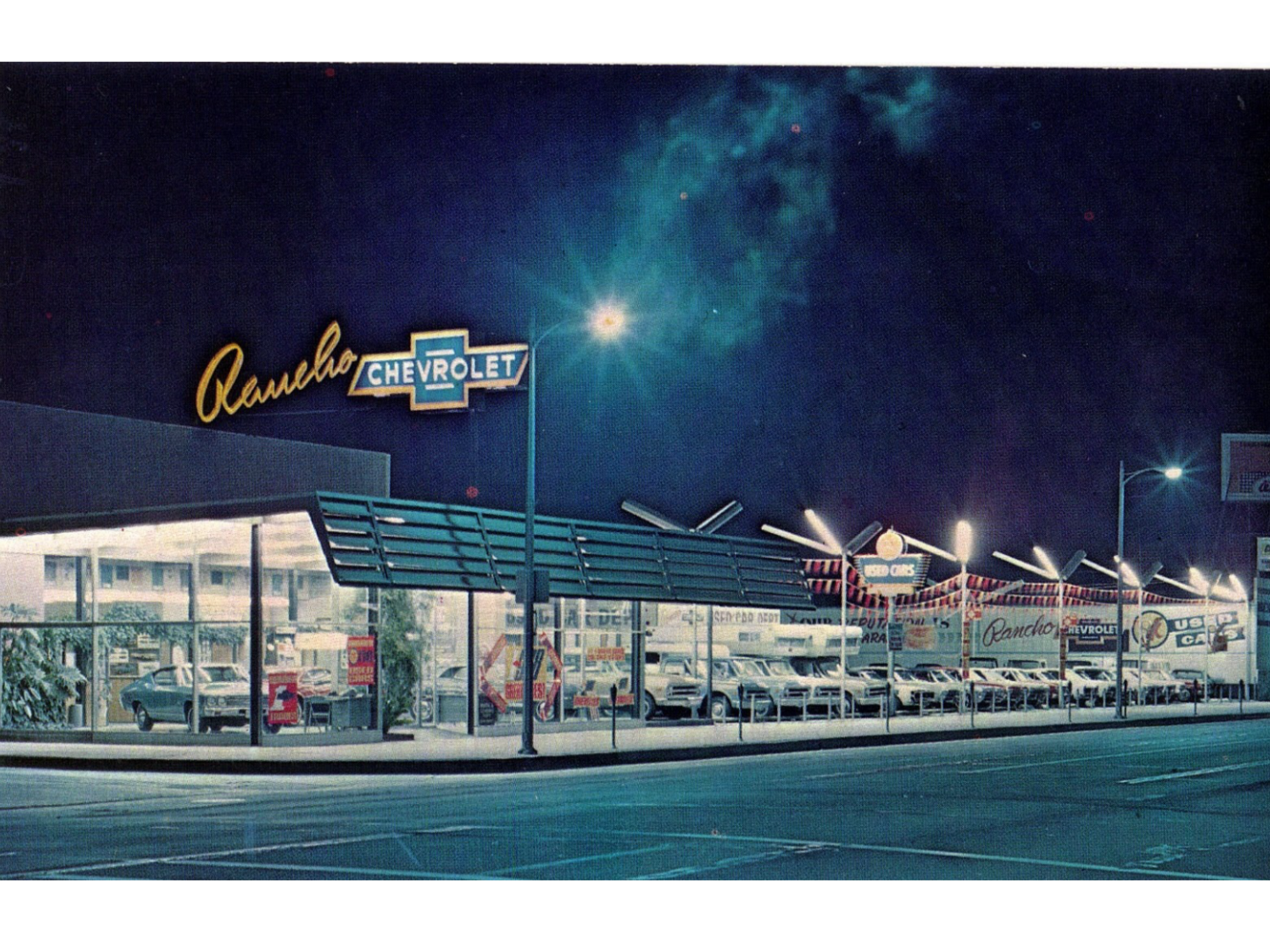 1960 S Rancho Chevrolet Dealership Reseda California With