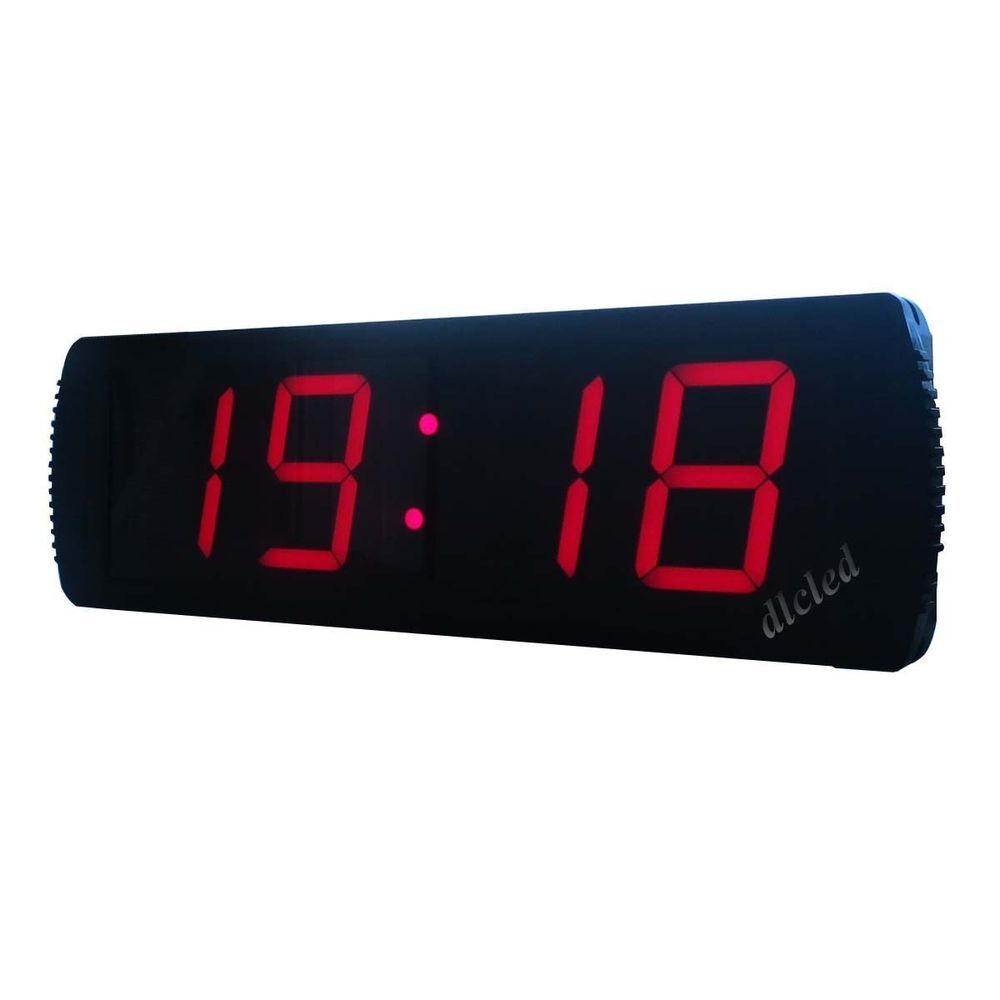 4 Large Digital Led Wall Clock With Countdown Up Function Operated By Remote Led Wall Clock Clock Wall Clock