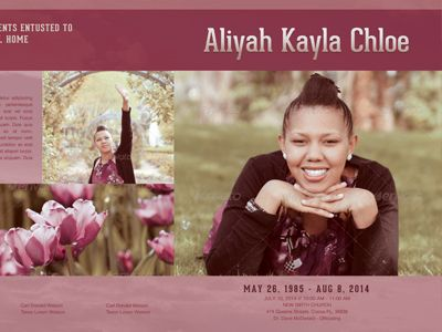 In Memoriam Funeral Program Template 008 | Program Template