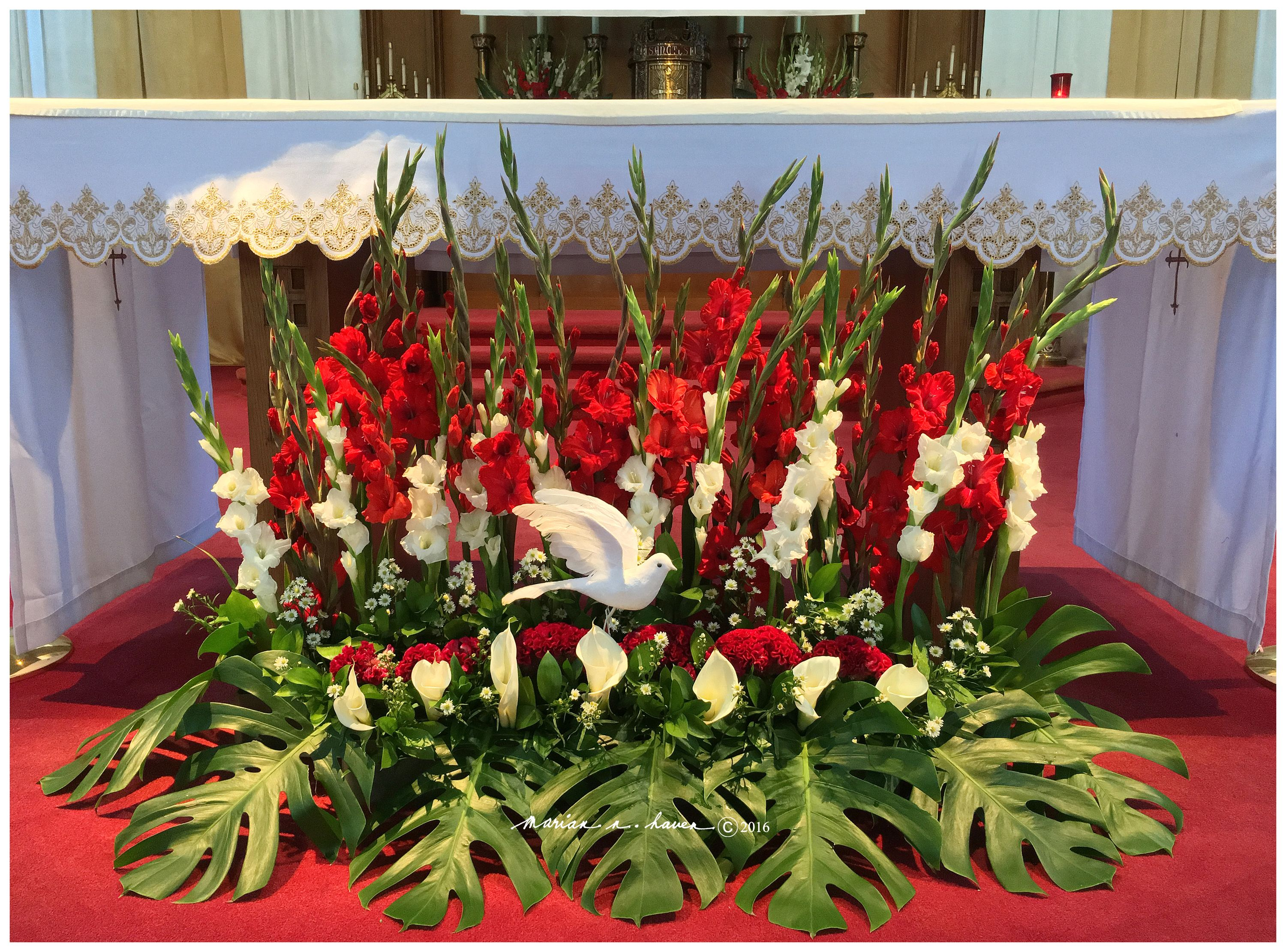 This is a 5 foot long floral arrangement for the st dunstan this is a 5 foot long floral arrangement for the st dunstan catholic church confirmation of its 8th grade students april 21 2016 marian h izmirmasajfo