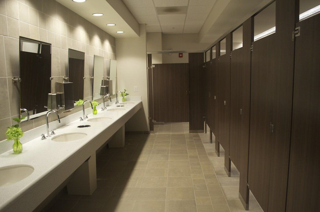 Church restroom design idea color palette for seventh for Modern washroom designs