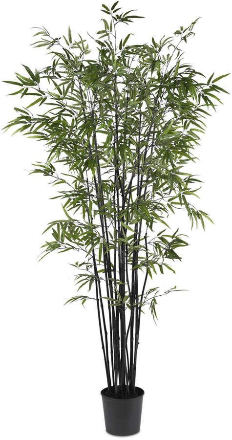 Nearly Natural 6 5 Artificial Black Bamboo Tree Silk
