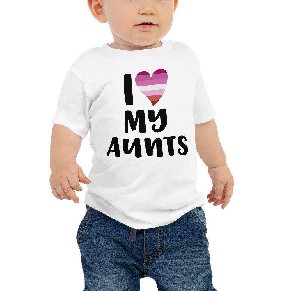 I Love Aunts Shirt Toddler , LGBT Shirt , Gay Aunt , Lesbian Aunt, LGBTQ Families Inclusive , Kids Pride